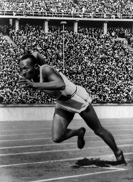 Jesse Owens 200 meter dasah start