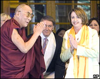 Dalai Lama and Nancy Pelosi