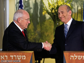 Dick Cheney and Ehud Olmert