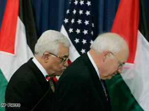 Dick Cheney and Mahmoud Abbas