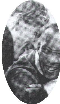 Lutz Long (left) and Jesse Owens, Summer Olympics Berlin 1936