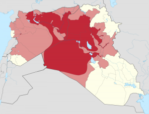 ISIS controlled or claimed territories July 2014