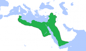 The Ayyubid empire under Saladin in 1188.